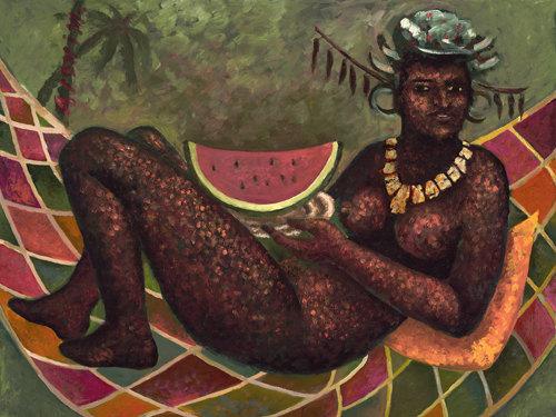 Aztec Queen With Watermelon