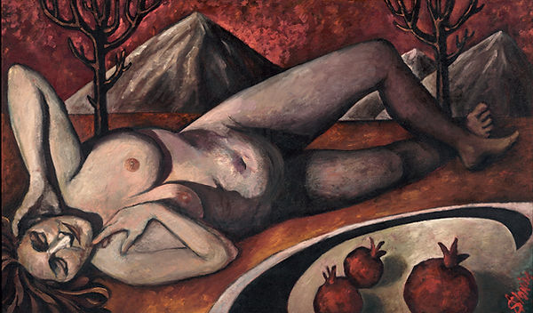 odalisque in the desert painting by anya