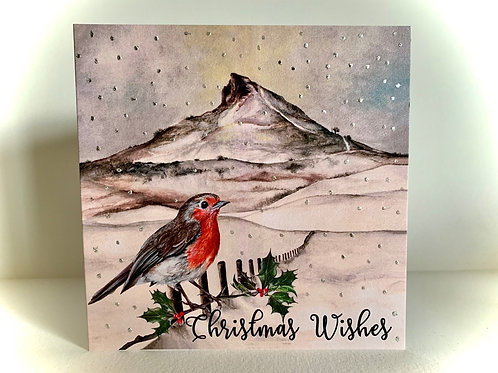 'Roseberry Topping' Christmas Card by Nicola E Rowe