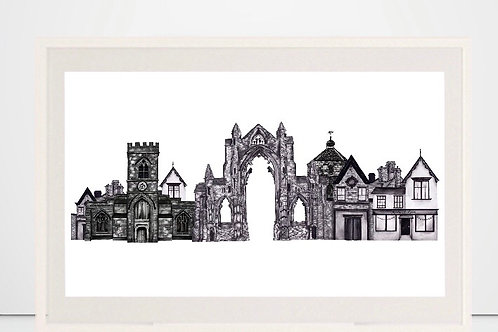 'Guisborough' print by Nicola E Rowe