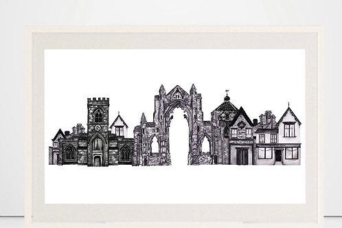 'Guisborough' print by Nicola E Rowe