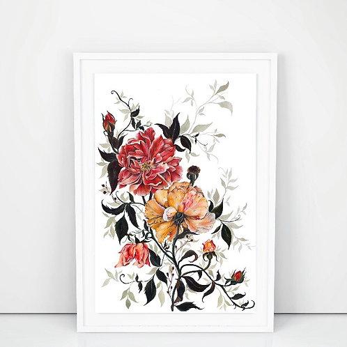 'Roses' print by Nicola E Rowe