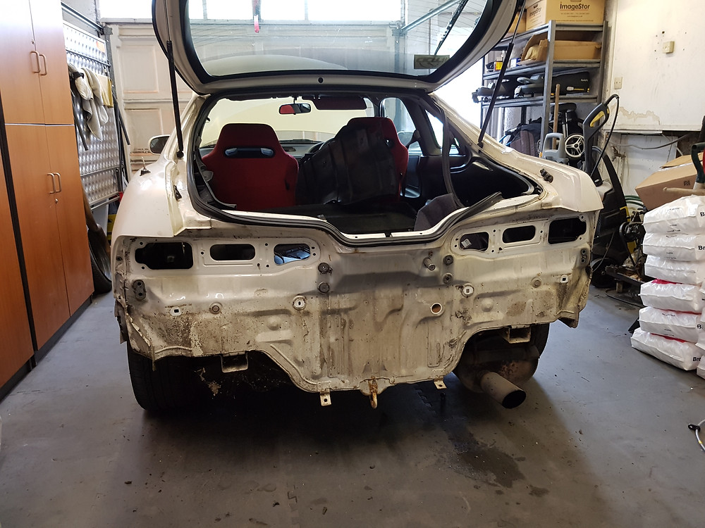 replacing damaged rear panels