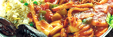Seafood and Tteokbokki (Spicy Rice Cake)
