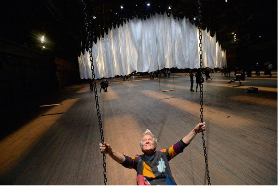 Artist- Ann Hamilton rides her art - for the NYTimes