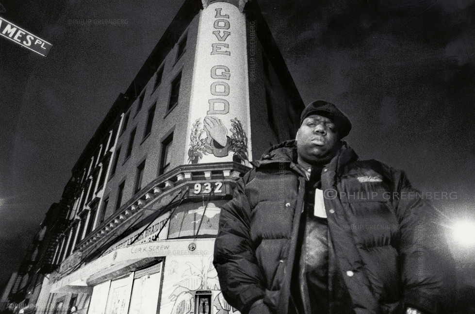 Biggie in his Hood Brooklyn for the NYTimes