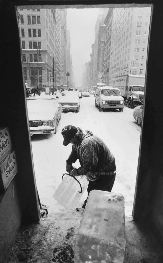 Ice Delivery in Winter