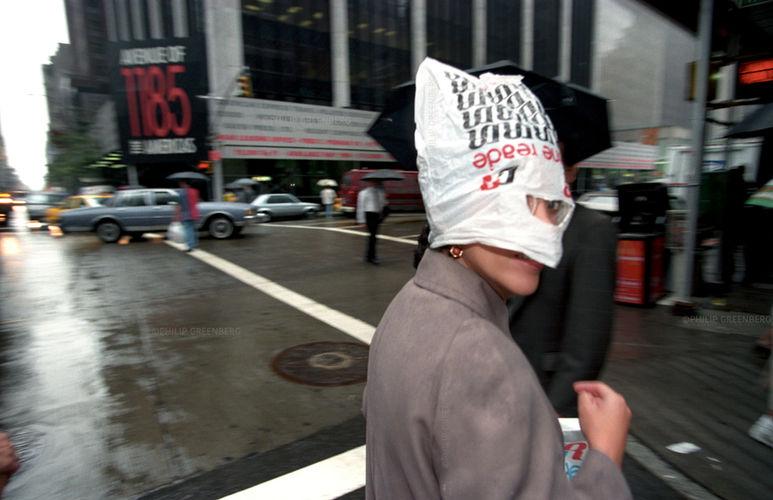 Rain on Fashion Ave