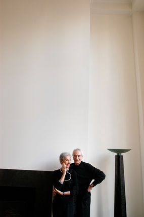 Lella and Massimo Vignelli for The New York Times