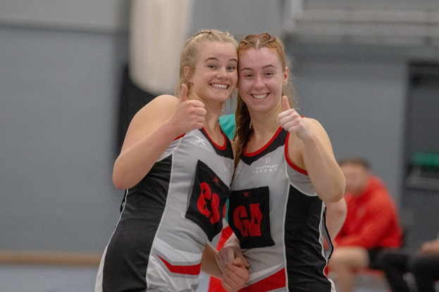 Emily Lacy and Sophie Margetts- Hartpury University Netball