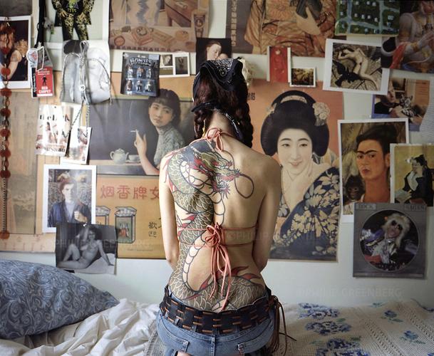 Artist Helen Garber on her Bed