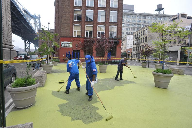 getting stuck- painting grass Brooklyn