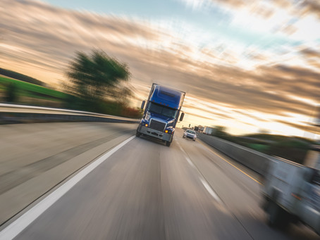 Driving safely close to large trucks