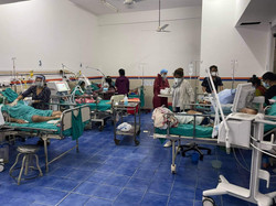 Covid patients at Chitwan Medical College Teaching Hospital in Nepal