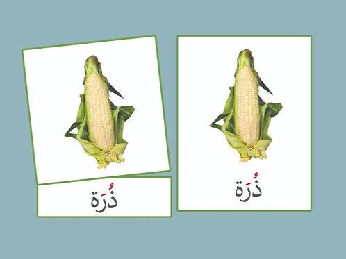 بطاقات ثلاثية الخضروات