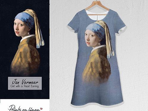 """Jan Vermeer Jurk"""" Meisje met de Parel""""."""