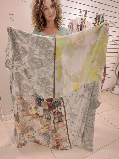 Sjaal Paris Print