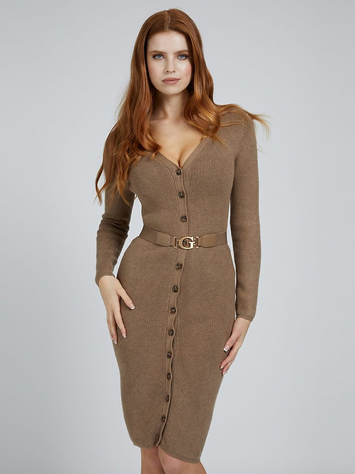 Vest-jurk met ceintuur