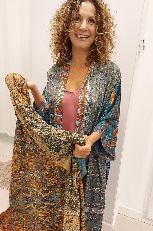 Lange Kimono Groen