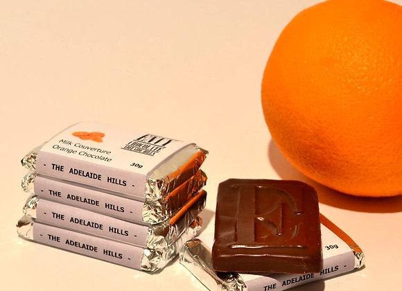Milk Couverture Orange Chocolate Bar