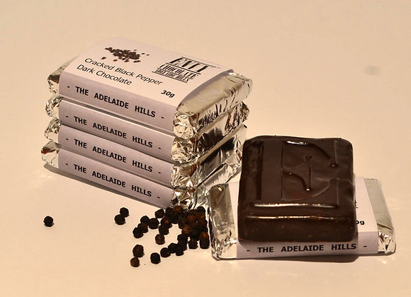 Milk Couverture Cracked Black Pepper Chocolate Bar