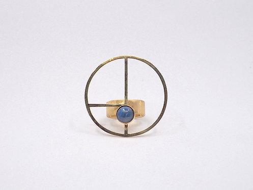 Golden Ratio Collection_ Anello XL con pietra