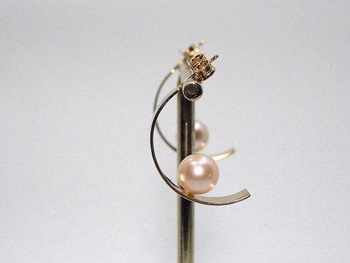 Floating Pearls 2.0_ Orecchini con perla