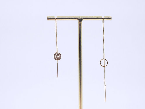 Wire Collection_ Chain earrings