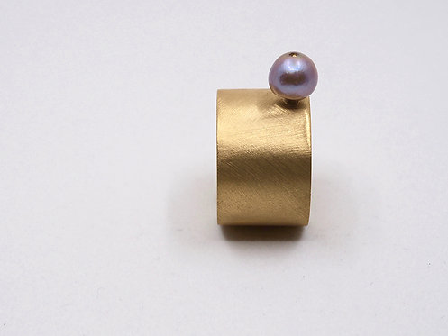 Floating Pearls Collection_ Anello con perla