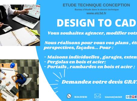 Vous souhaitez agencer, modifier votre maison ? Offre Design To CAD