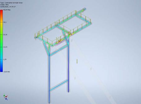 Passerelle 3D & Calcul Ossature