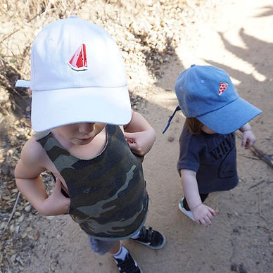 kids in dad hats
