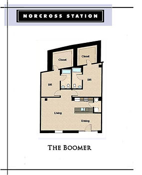 The Boomer 2 Bedroom Floor Plan