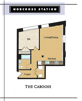 The Caboose Floor Plan