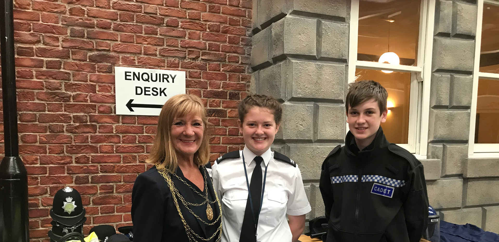 The Mayoress with the Cadets