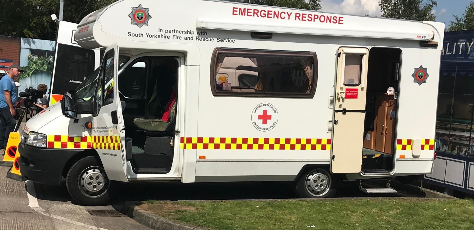 British Red Cross emergency vehicle