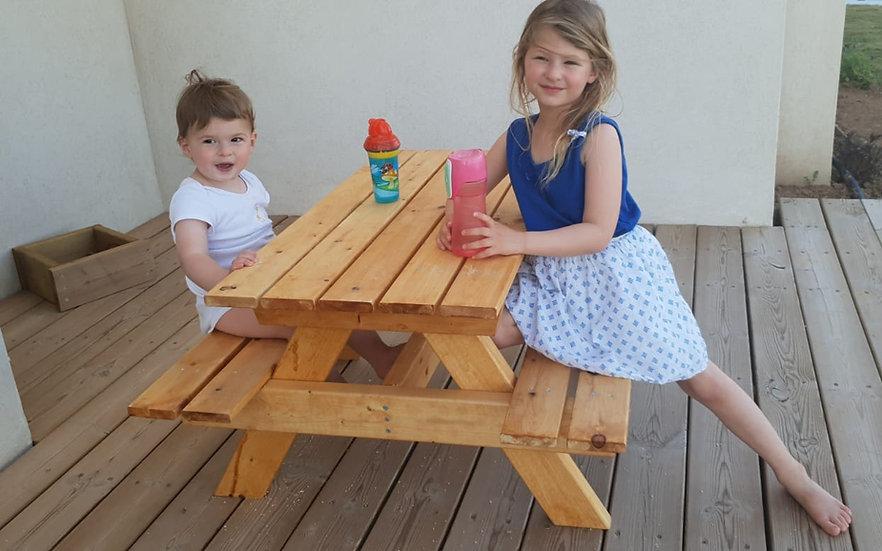 שולחן פיקניק לילדים - קיט בנייה