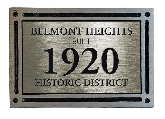 Historic District House Plaque