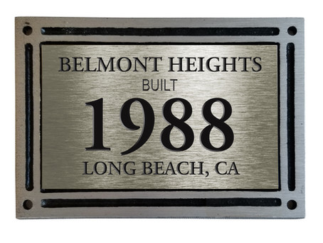 New Plaques for Homes