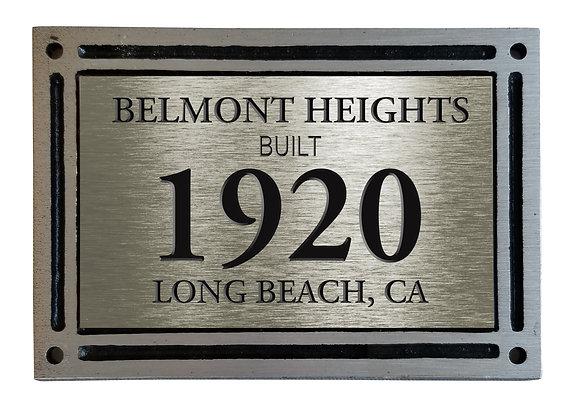 LONG BEACH HOUSE PLAQUE