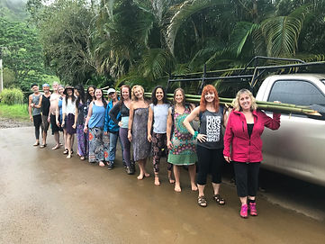Kauai Lomi Lomi Training Retreat, Bamboo Forest Hike, Kahuna / Temple Style Bodywork Training