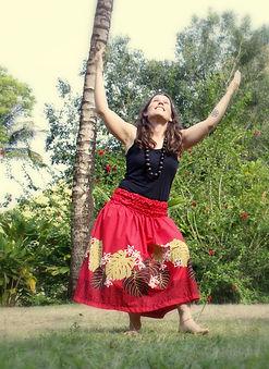 Patti Miller of Shamanic Bodywork offering a hula prayer