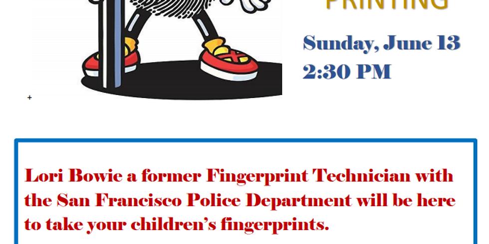 Free Kids Fingerprint