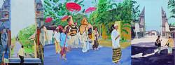 Hinduprozession auf Bali 2