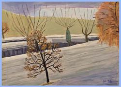 Aarau Aarekanal im Winter