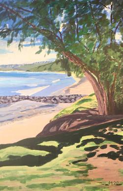Strandbild St.Pierre zum Triptychon