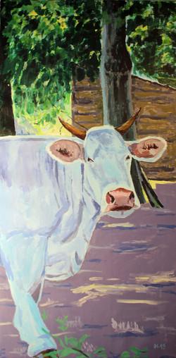 Zufriedene Kuh zum Triptychon