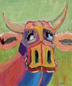 Verliebte Kuh mit Silberblick