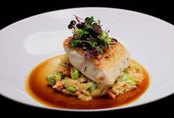 NC+Grouper+-+Lobster+-+Orzo+-+Asparagus+Risotto+-+Lobster+Jus