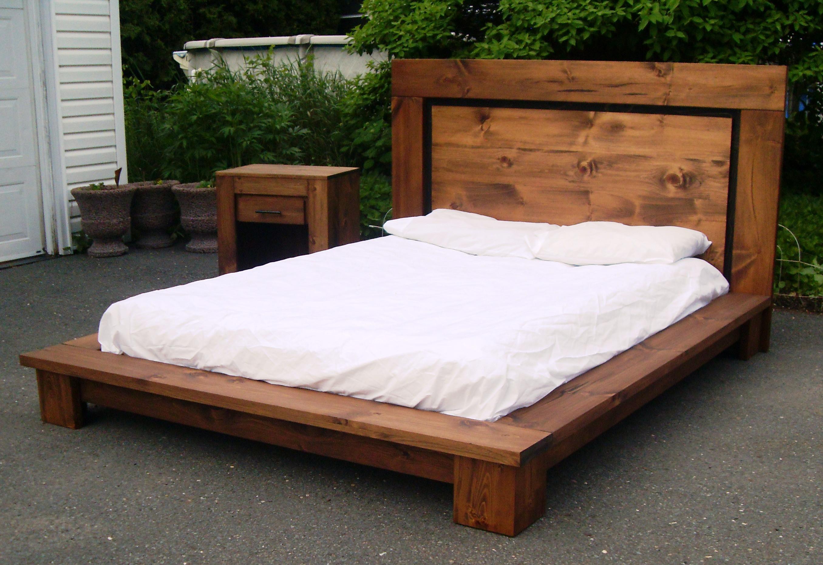 Lit Poutre Bois Massif les bases de lits | lit zen quebec | base de lit